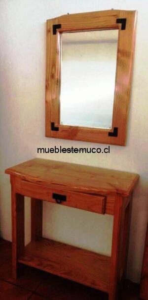 mesa de arrimo y espejo quepe