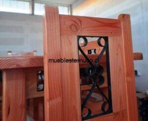 comedor de pino oregon de 8 sillas