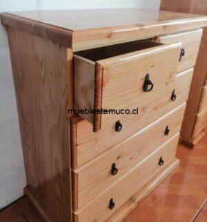 comoda firme de madera de pino oregon
