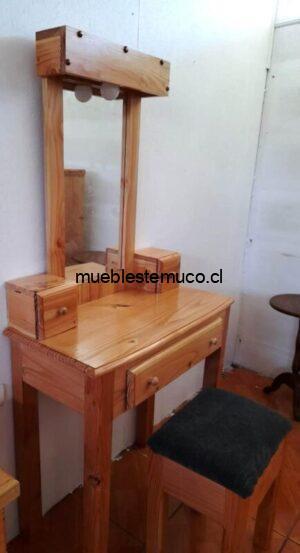 Mueble toilette de madera