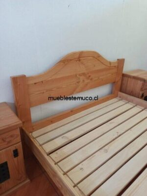 cama dos plazas de madera